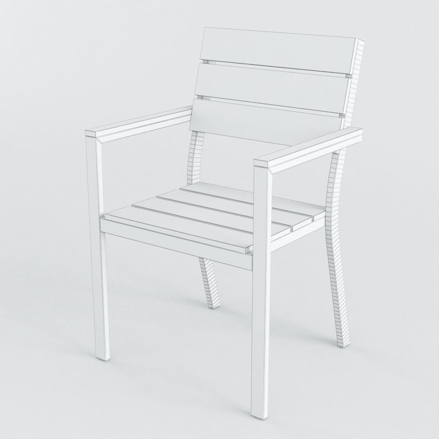 Chairs & Table royalty-free 3d model - Preview no. 6
