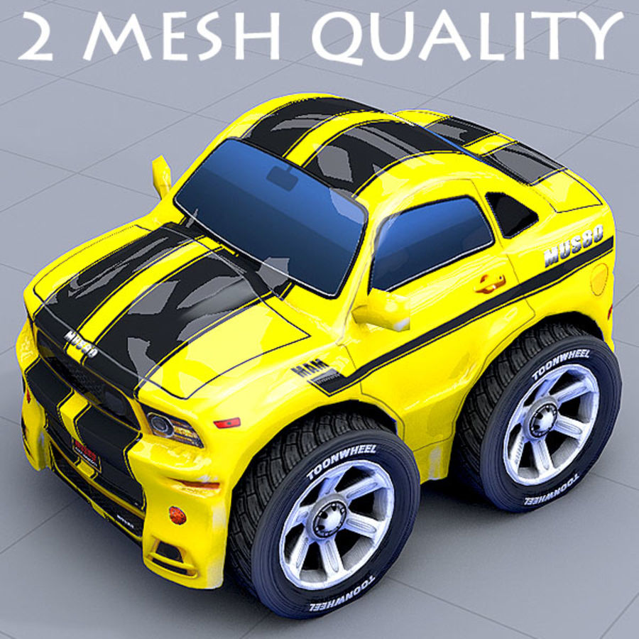 Mus80 car toon royalty-free 3d model - Preview no. 1