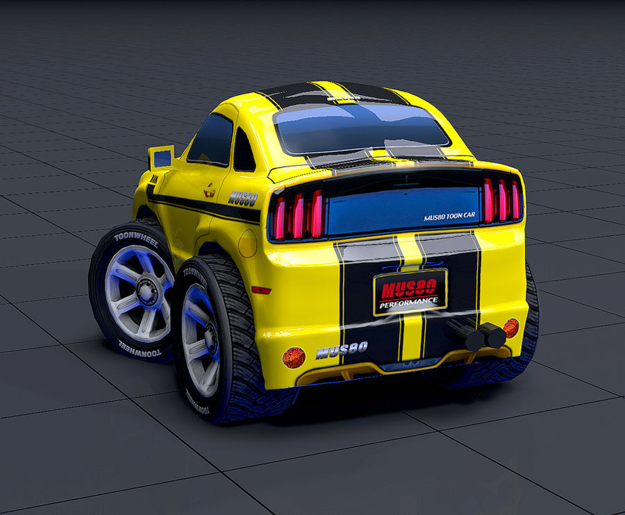 Mus80 car toon royalty-free 3d model - Preview no. 7