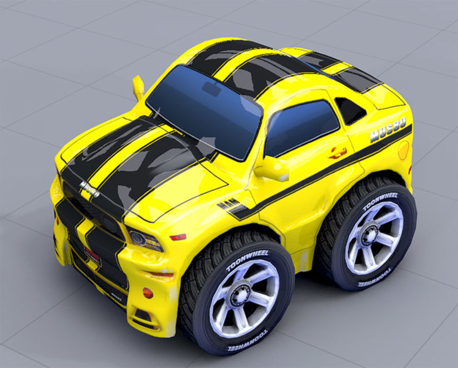 Mus80 car toon royalty-free 3d model - Preview no. 9