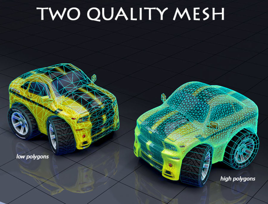 Mus80 car toon royalty-free 3d model - Preview no. 4