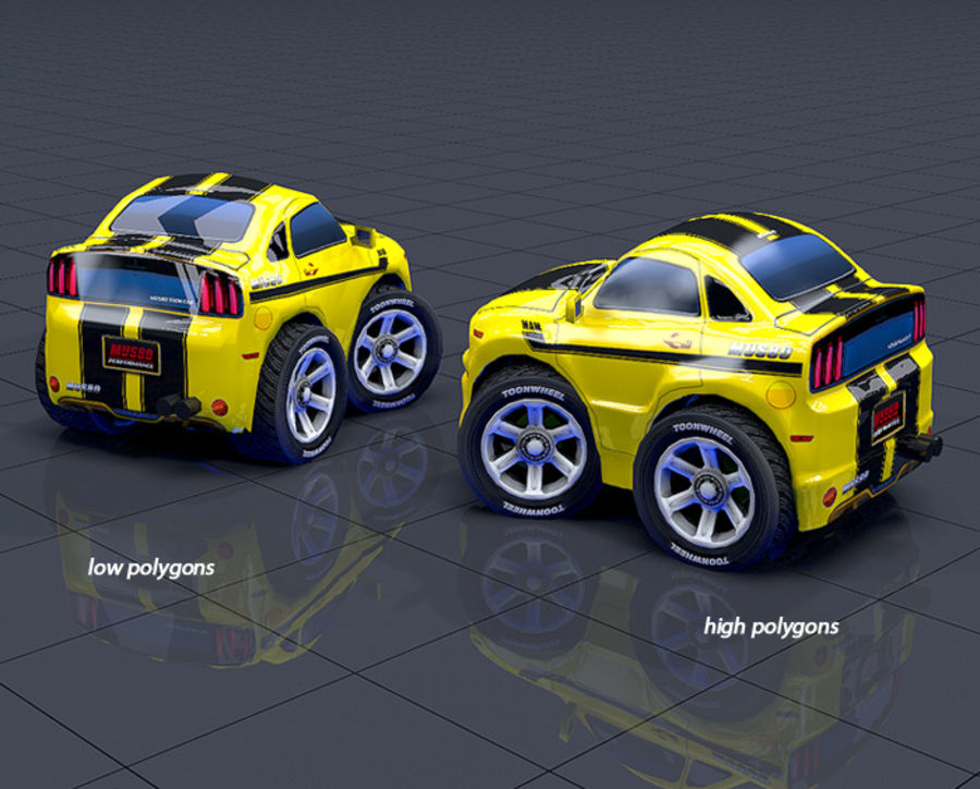 Mus80 car toon royalty-free 3d model - Preview no. 8