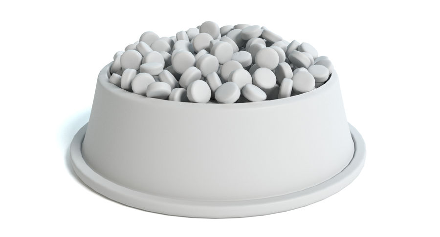 Bowl of Dog Food royalty-free 3d model - Preview no. 5