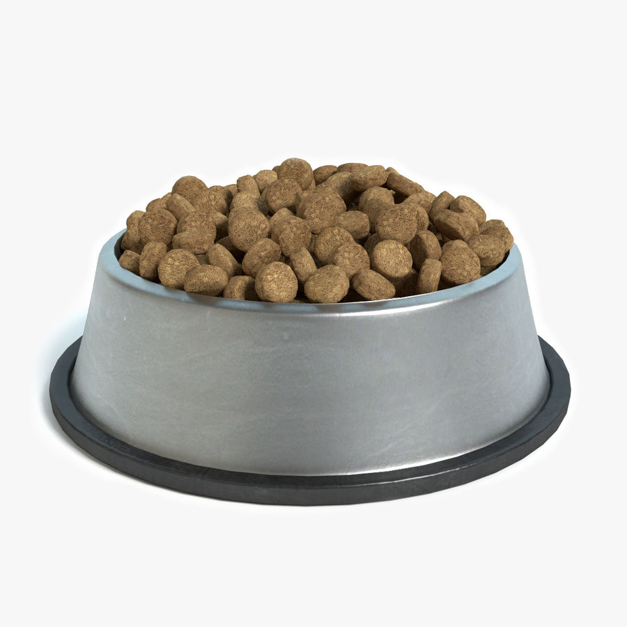 Bowl of Dog Food royalty-free 3d model - Preview no. 1