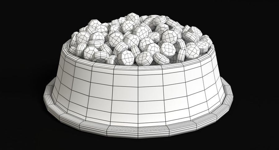 Bowl of Dog Food royalty-free 3d model - Preview no. 6