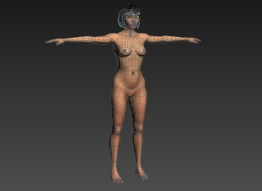 女 royalty-free 3d model - Preview no. 19