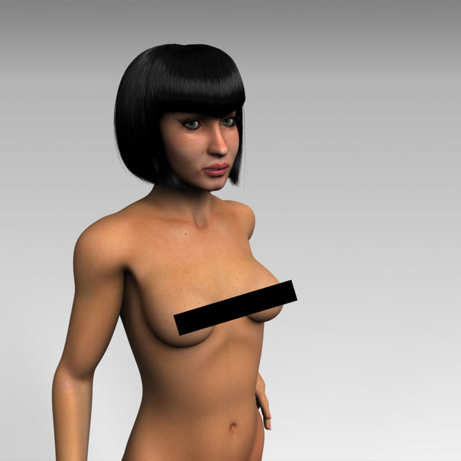 Female royalty-free 3d model - Preview no. 11