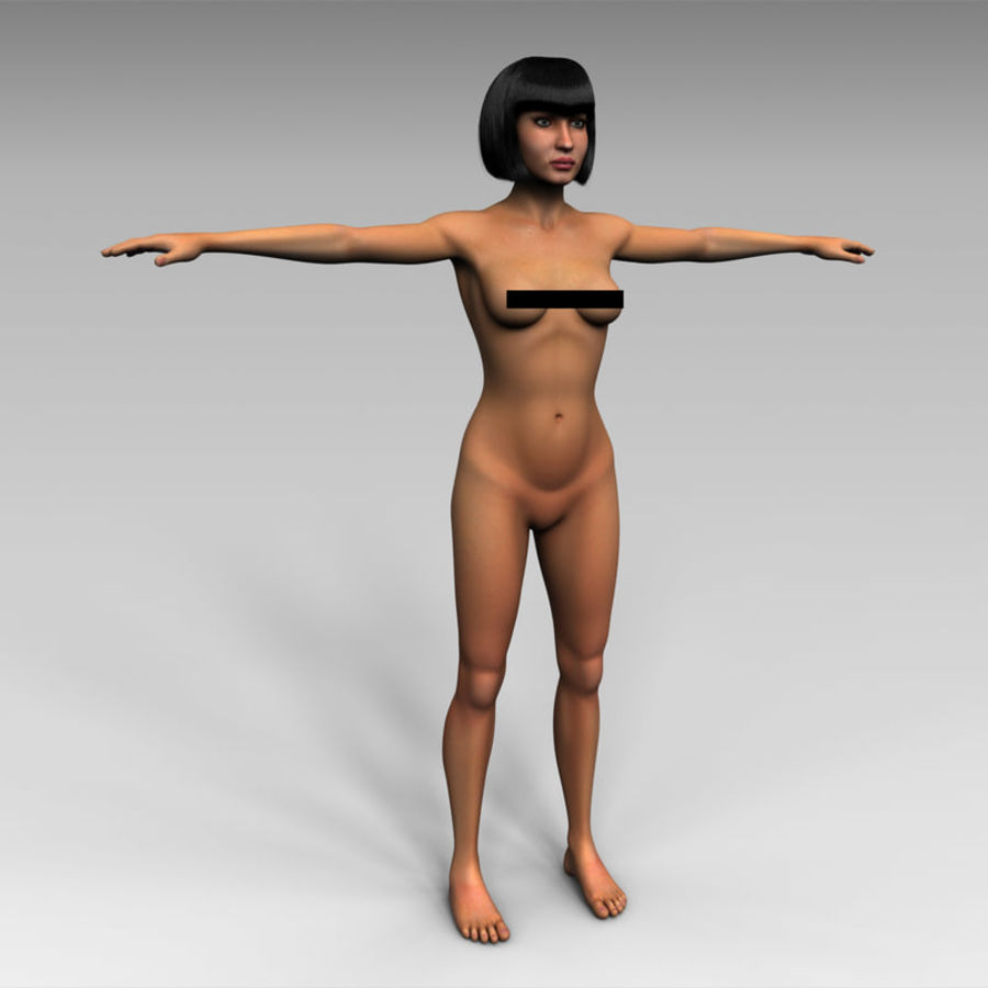 Female royalty-free 3d model - Preview no. 1