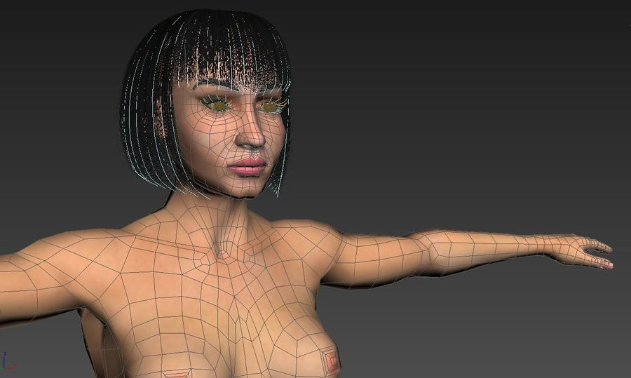 Female royalty-free 3d model - Preview no. 13