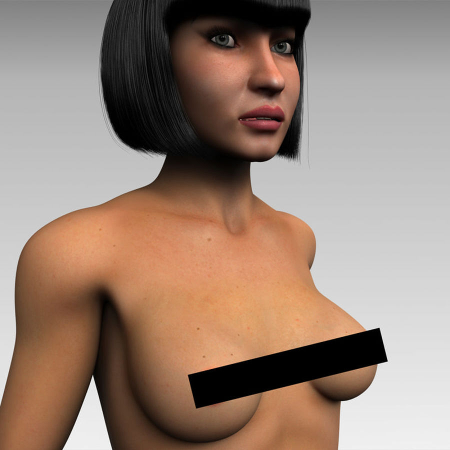 女 royalty-free 3d model - Preview no. 9