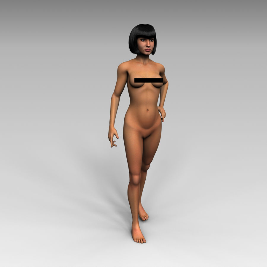 女 royalty-free 3d model - Preview no. 2