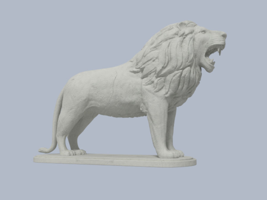 Lion Figurine royalty-free 3d model - Preview no. 1
