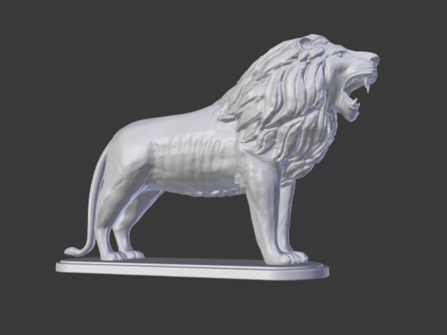 Lion Figurine royalty-free 3d model - Preview no. 2