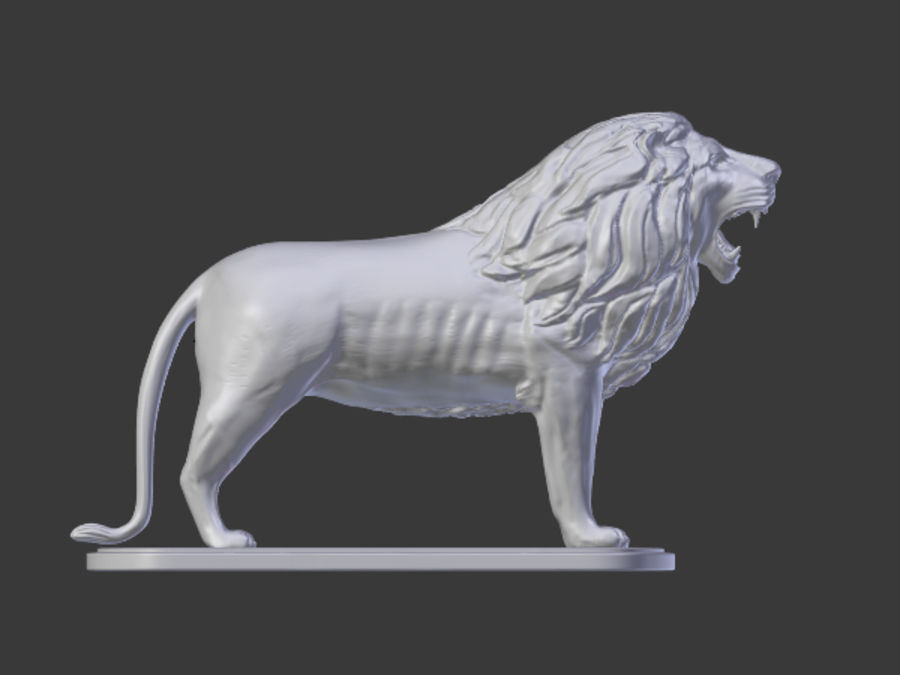 Lion Figurine royalty-free 3d model - Preview no. 5
