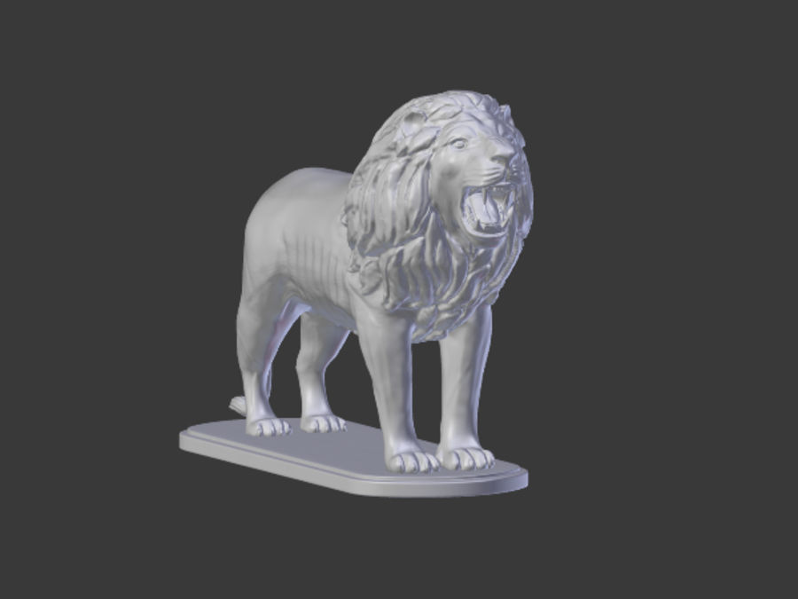 Lion Figurine royalty-free 3d model - Preview no. 3