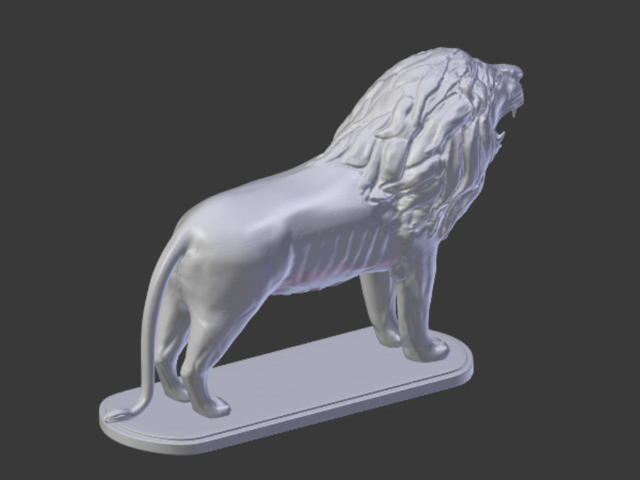 Lion Figurine royalty-free 3d model - Preview no. 6