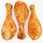 Three Chicken Legs 3d model