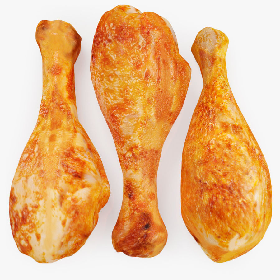 Three Chicken Legs royalty-free 3d model - Preview no. 1