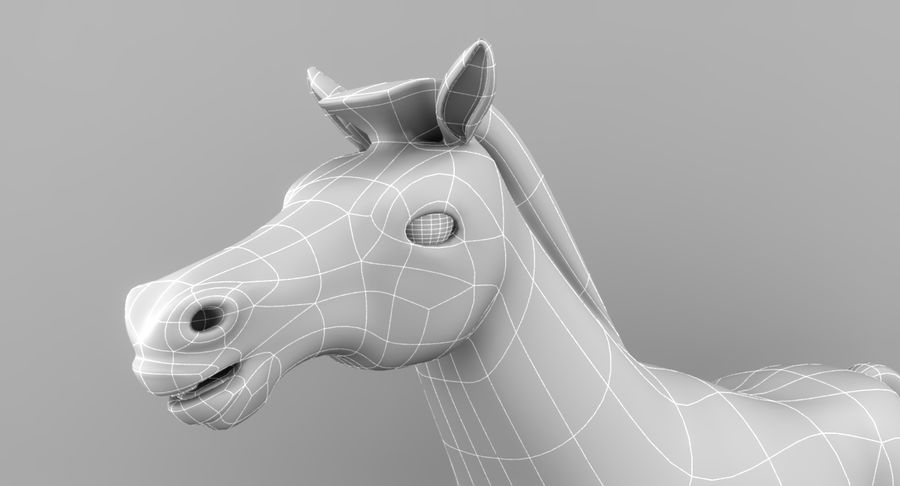 Cartoon Horse royalty-free 3d model - Preview no. 15
