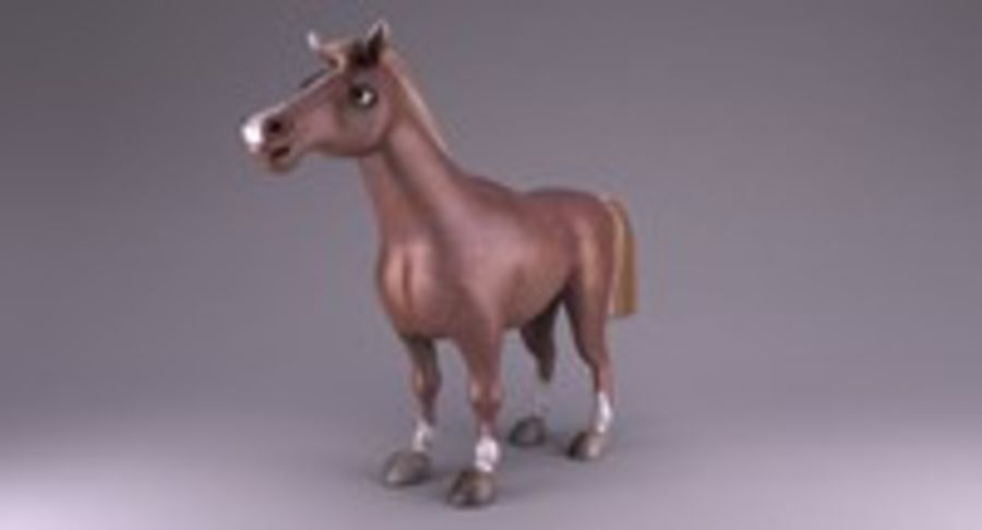 Cartoon Horse royalty-free 3d model - Preview no. 3