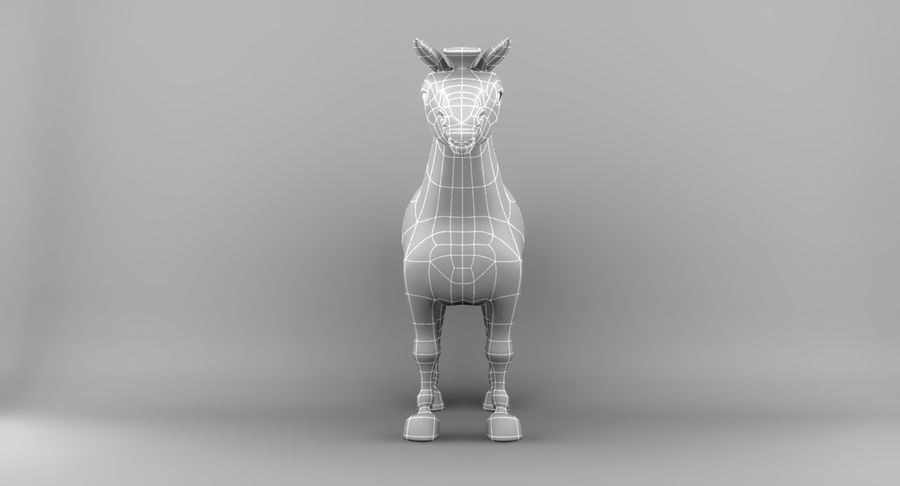 Cartoon Horse royalty-free 3d model - Preview no. 13