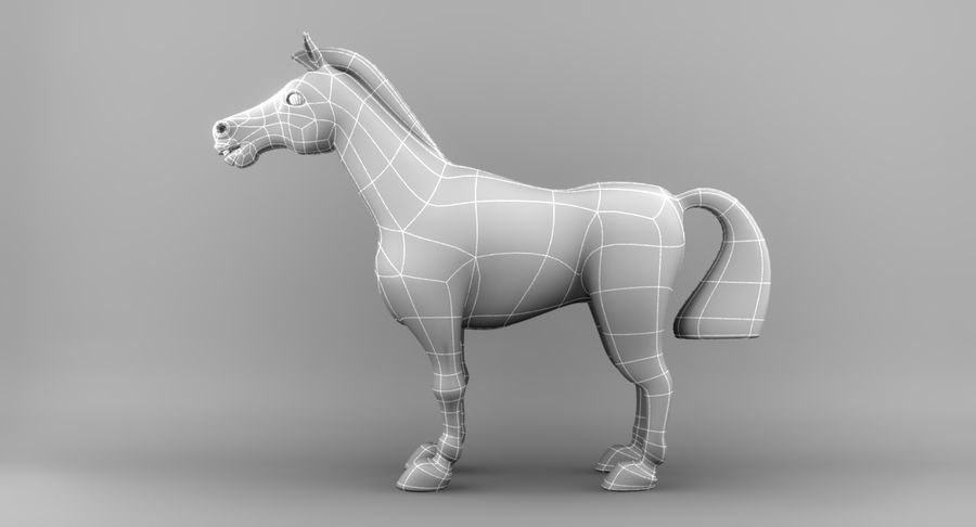 Cartoon Horse royalty-free 3d model - Preview no. 12