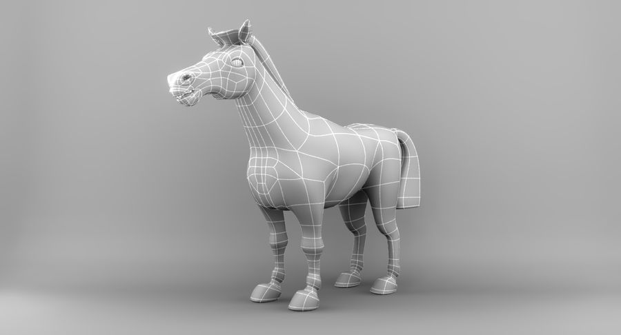 Cartoon Horse royalty-free 3d model - Preview no. 14