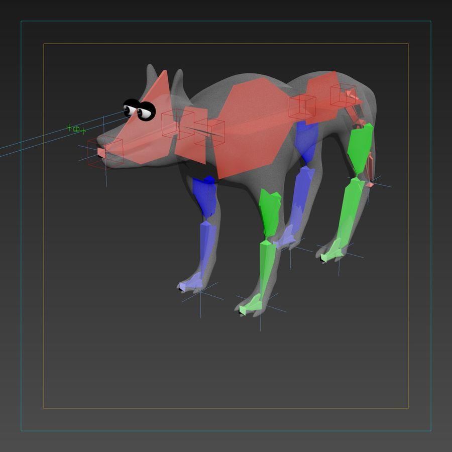 Lupo di cartone animato suggerito modello d obj max