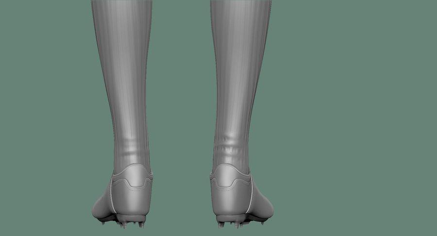 Cartoon Woman Soccer Goal Keeper Sculpt royalty-free 3d model - Preview no. 32