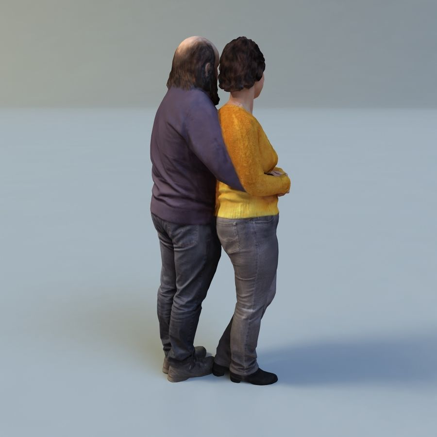 man and woman royalty-free 3d model - Preview no. 8