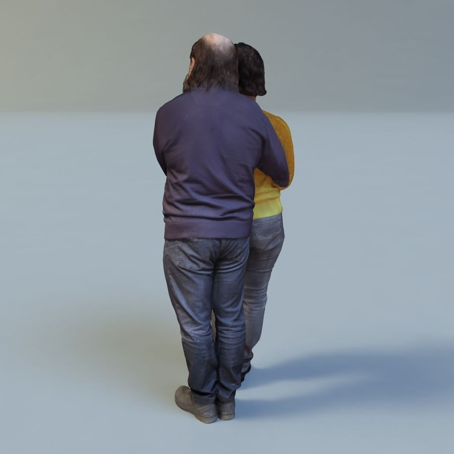 man and woman royalty-free 3d model - Preview no. 5