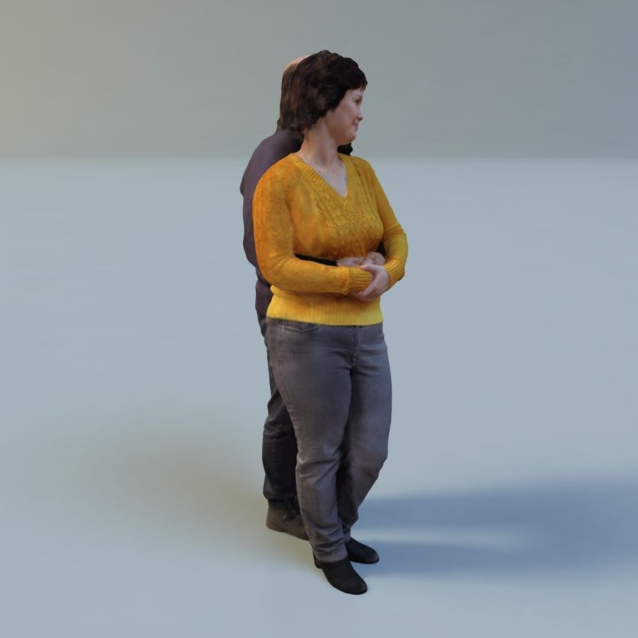 man and woman royalty-free 3d model - Preview no. 10