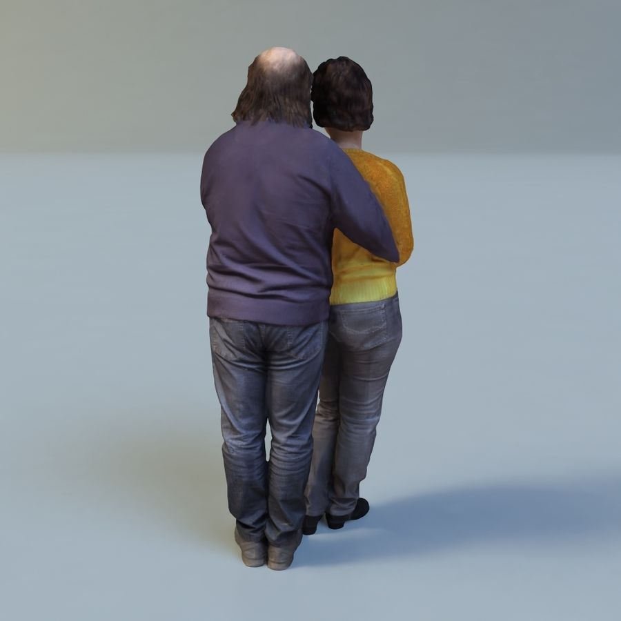 man and woman royalty-free 3d model - Preview no. 6