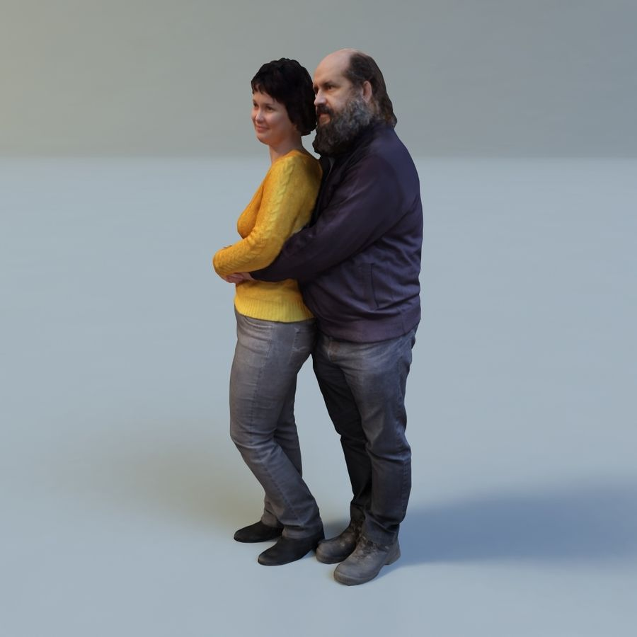 man and woman royalty-free 3d model - Preview no. 2