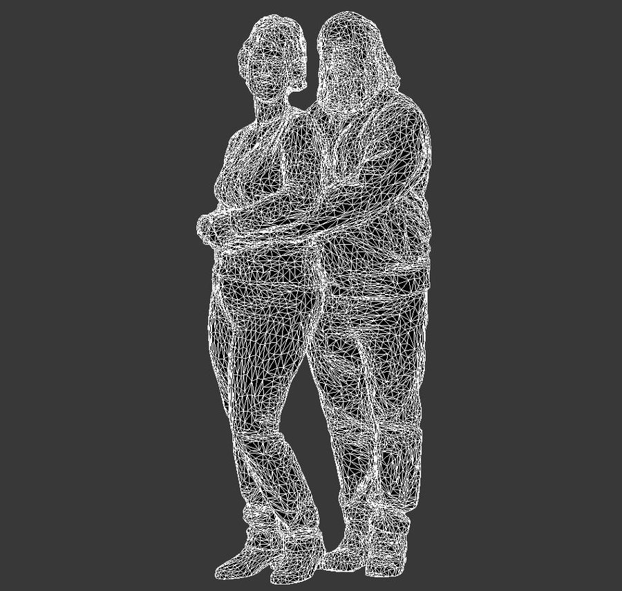 man and woman royalty-free 3d model - Preview no. 11