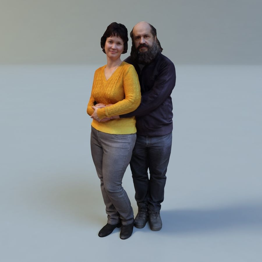 man and woman royalty-free 3d model - Preview no. 1