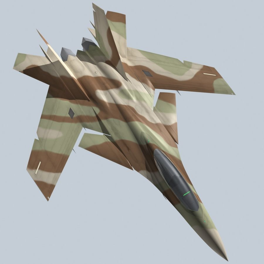 Concept Fighter (KF2-HAMMER) royalty-free 3d model - Preview no. 21