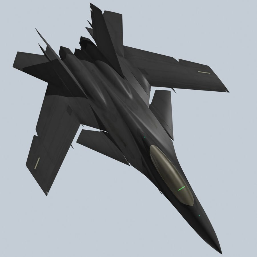 Concept Fighter (KF2-HAMMER) royalty-free 3d model - Preview no. 17