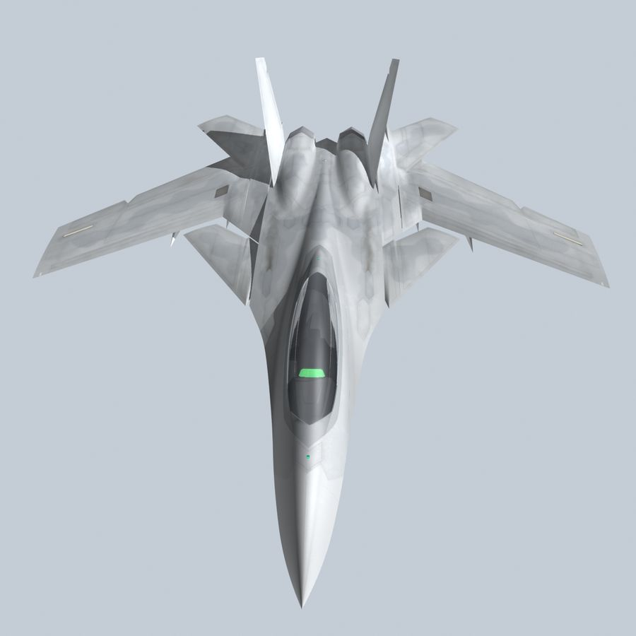 Concept Fighter (KF2-HAMMER) royalty-free 3d model - Preview no. 1