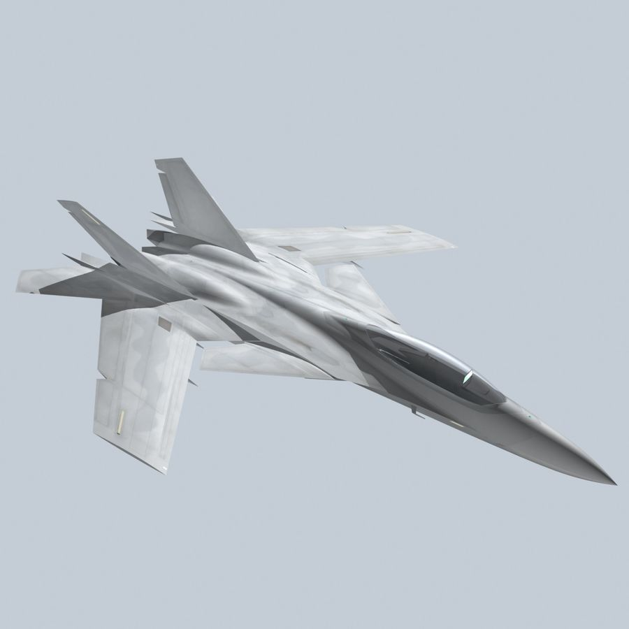 Concept Fighter (KF2-HAMMER) royalty-free 3d model - Preview no. 12