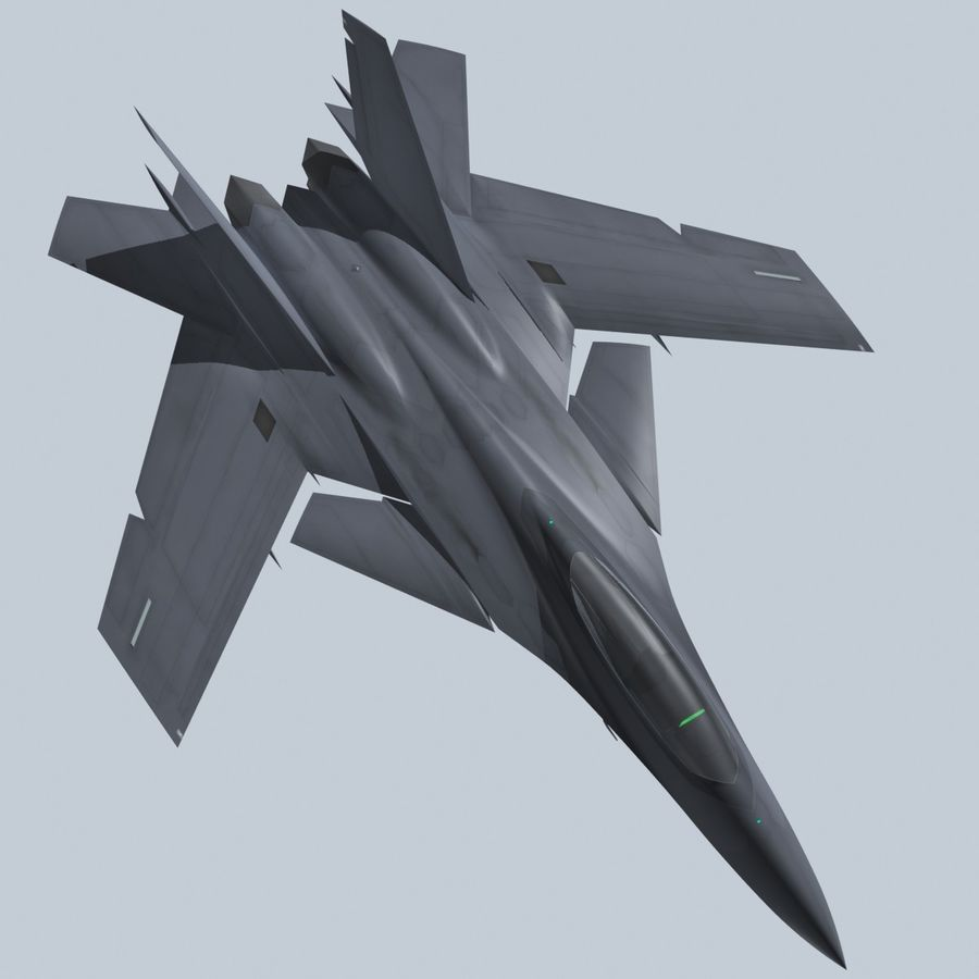 Concept Fighter (KF2-HAMMER) royalty-free 3d model - Preview no. 19