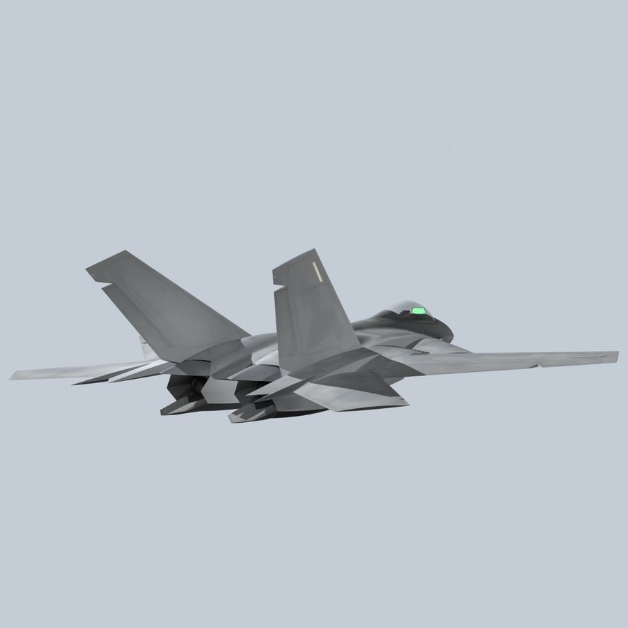 Concept Fighter (KF2-HAMMER) royalty-free 3d model - Preview no. 11