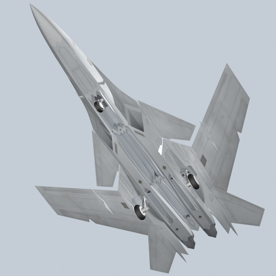 Concept Fighter (KF2-HAMMER) royalty-free 3d model - Preview no. 16