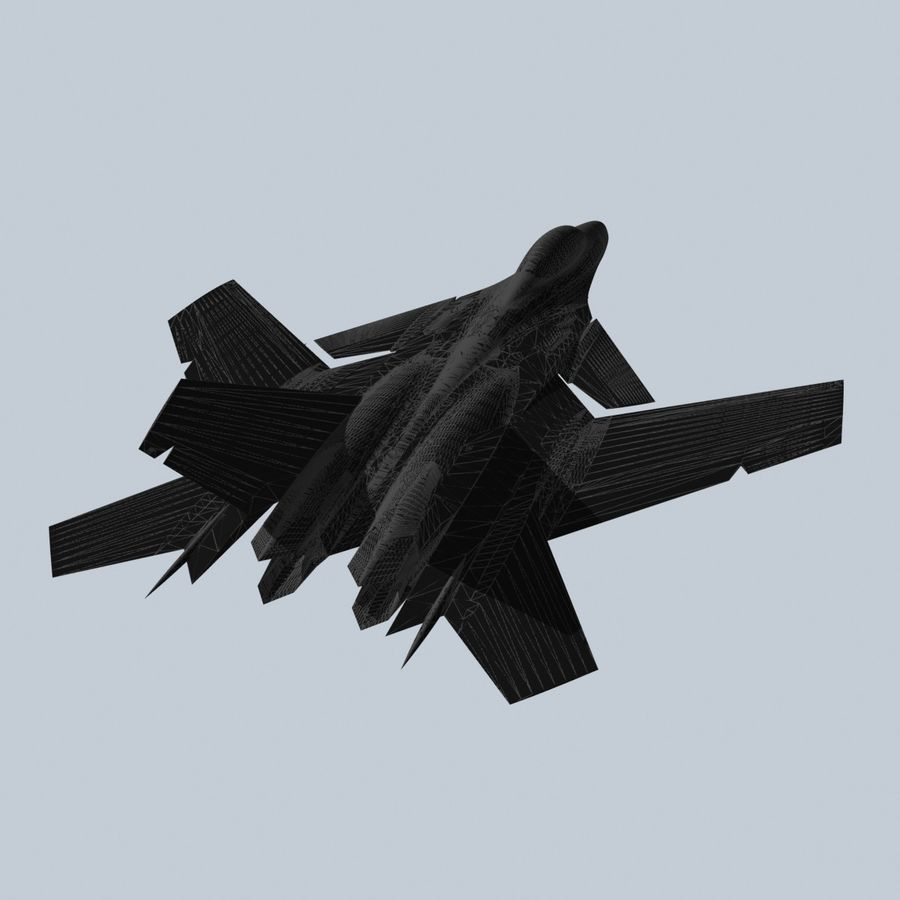 Concept Fighter (KF2-HAMMER) royalty-free 3d model - Preview no. 23