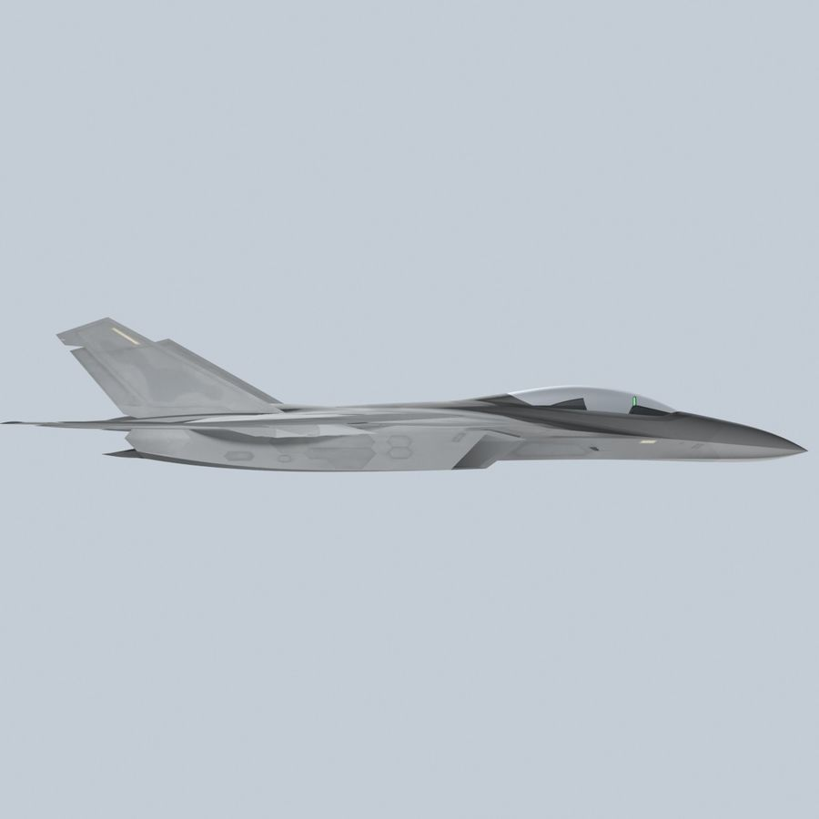 Concept Fighter (KF2-HAMMER) royalty-free 3d model - Preview no. 6