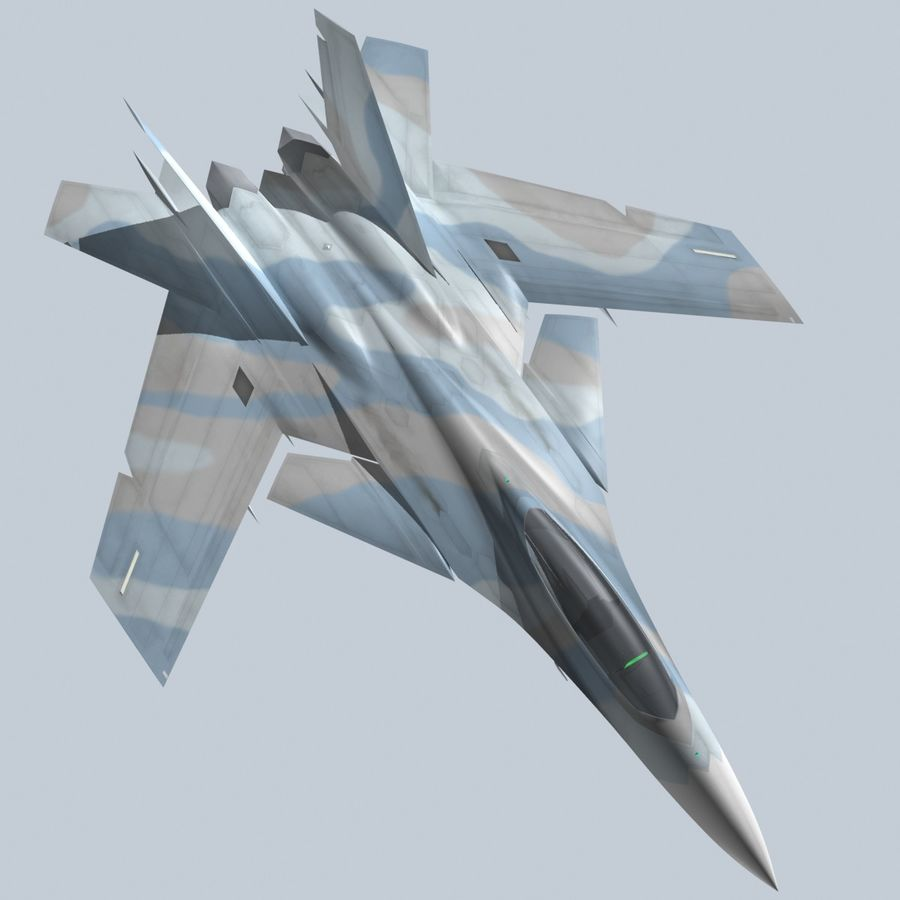 Concept Fighter (KF2-HAMMER) royalty-free 3d model - Preview no. 18