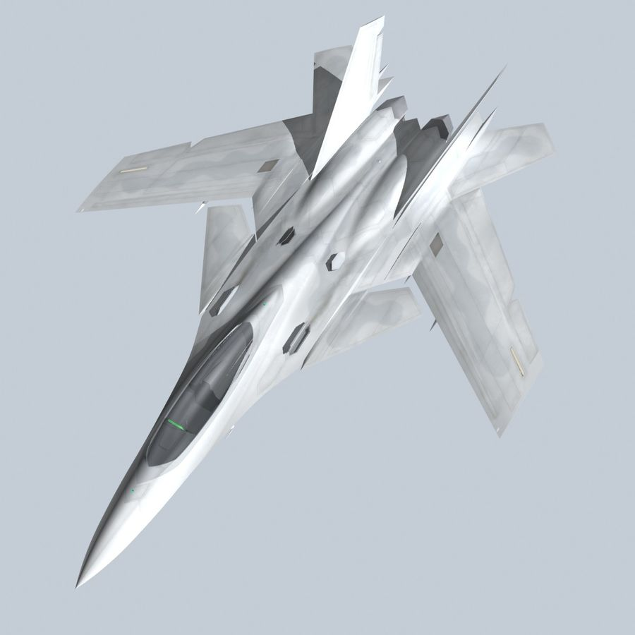 Concept Fighter (KF2-HAMMER) royalty-free 3d model - Preview no. 14