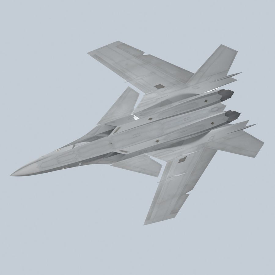 Concept Fighter (KF2-HAMMER) royalty-free 3d model - Preview no. 4