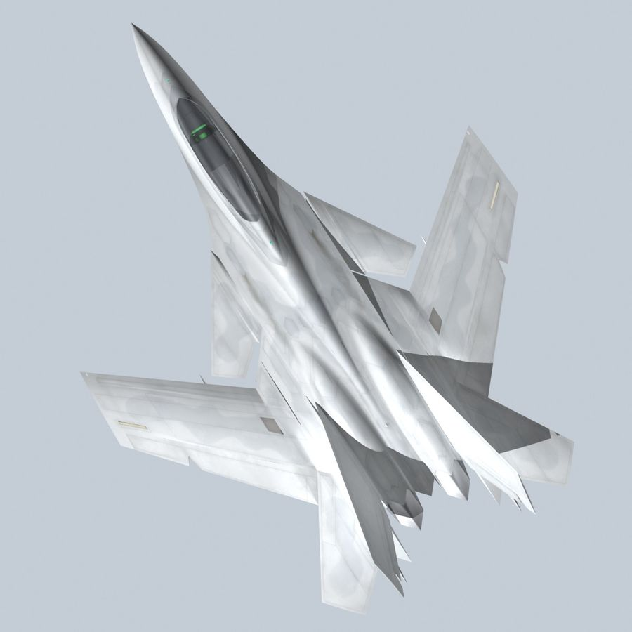 Concept Fighter (KF2-HAMMER) royalty-free 3d model - Preview no. 3