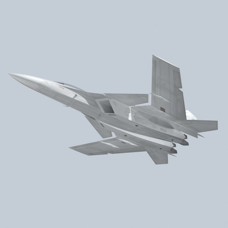 Concept Fighter (KF2-HAMMER) royalty-free 3d model - Preview no. 5